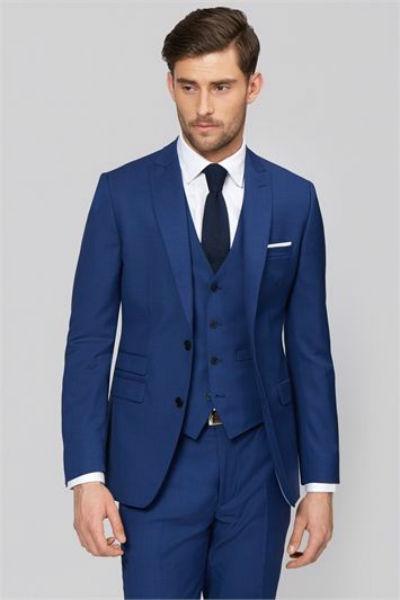Vest nam màu xanh navy