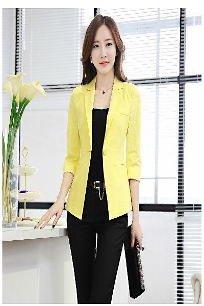 Áo vest nữ màu vàng