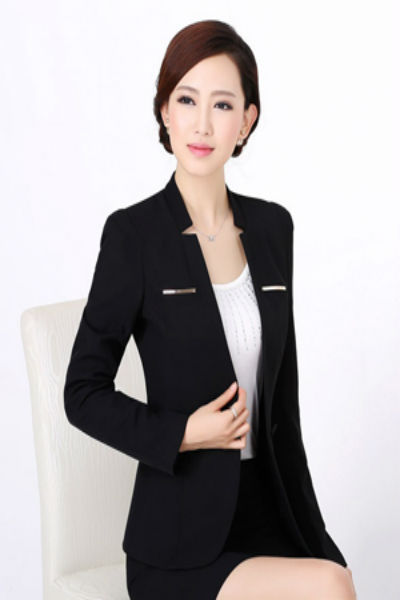 Áo vest nữ công sở màu đen bổ túi cơi